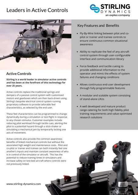 Active Controls Flyer