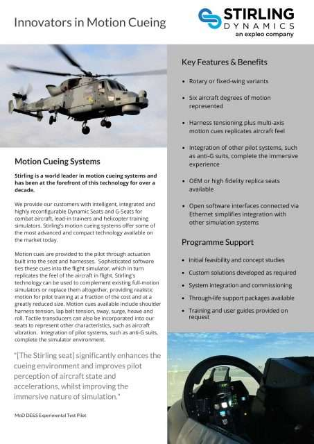 Motion Cueing Flyer